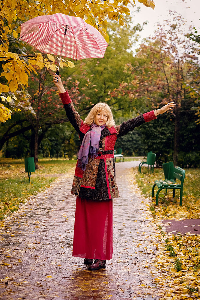 Лада Тихомирова с зонтом